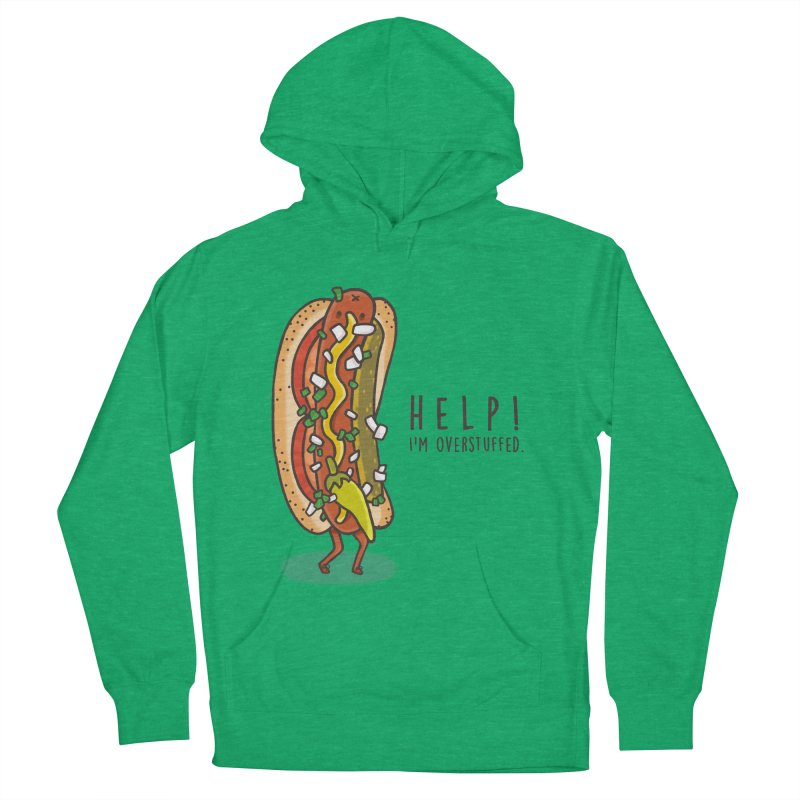 CARRYING TOO MUCH Women's French Terry Pullover Hoody by RiLi's Artist Shop