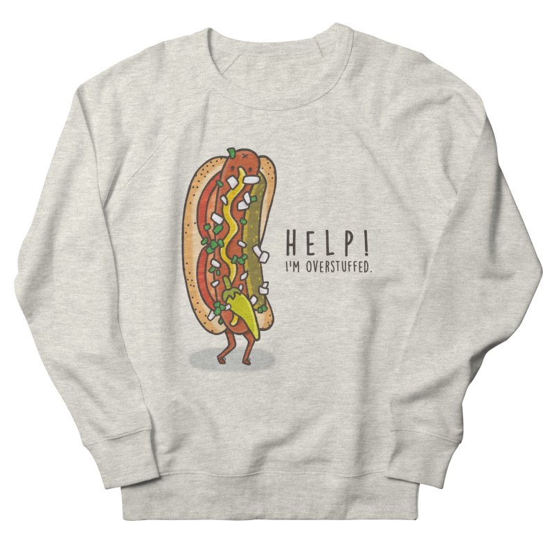 CARRYING TOO MUCH Women's French Terry Sweatshirt by RiLi's Artist Shop