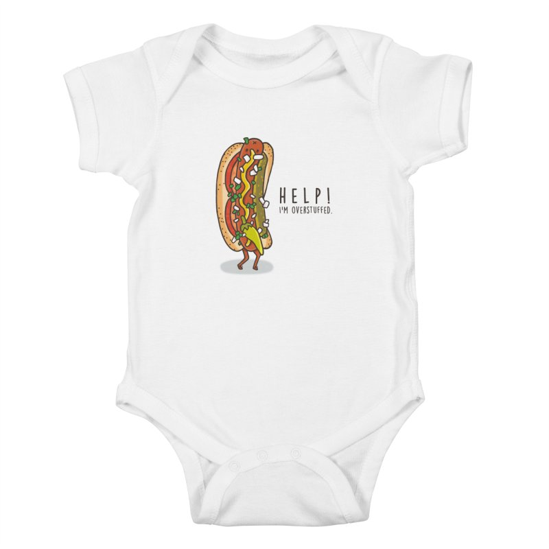 CARRYING TOO MUCH Kids Baby Bodysuit by RiLi's Artist Shop