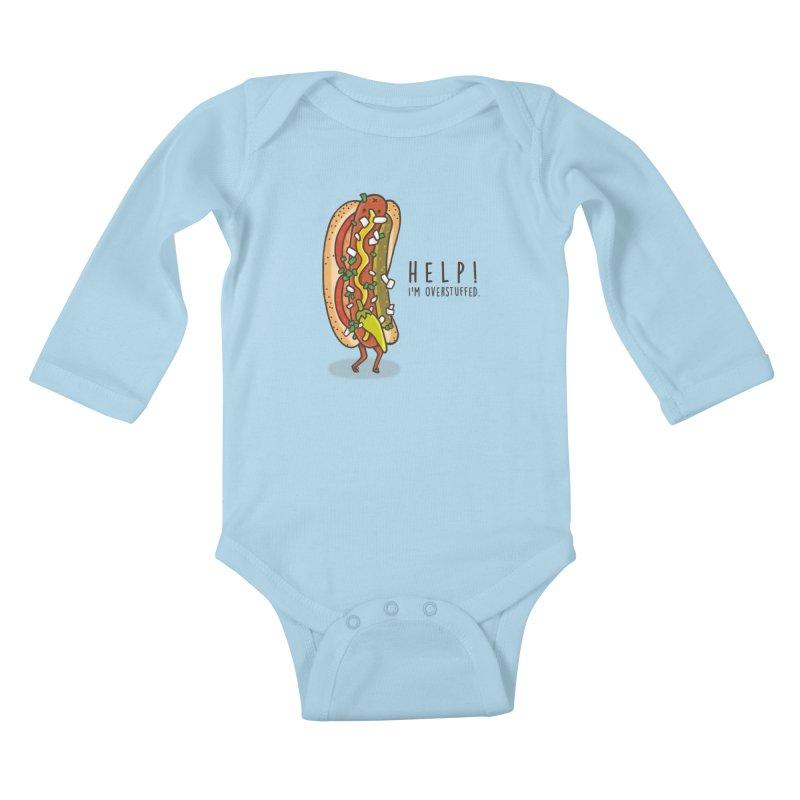 CARRYING TOO MUCH Kids Baby Longsleeve Bodysuit by RiLi's Artist Shop