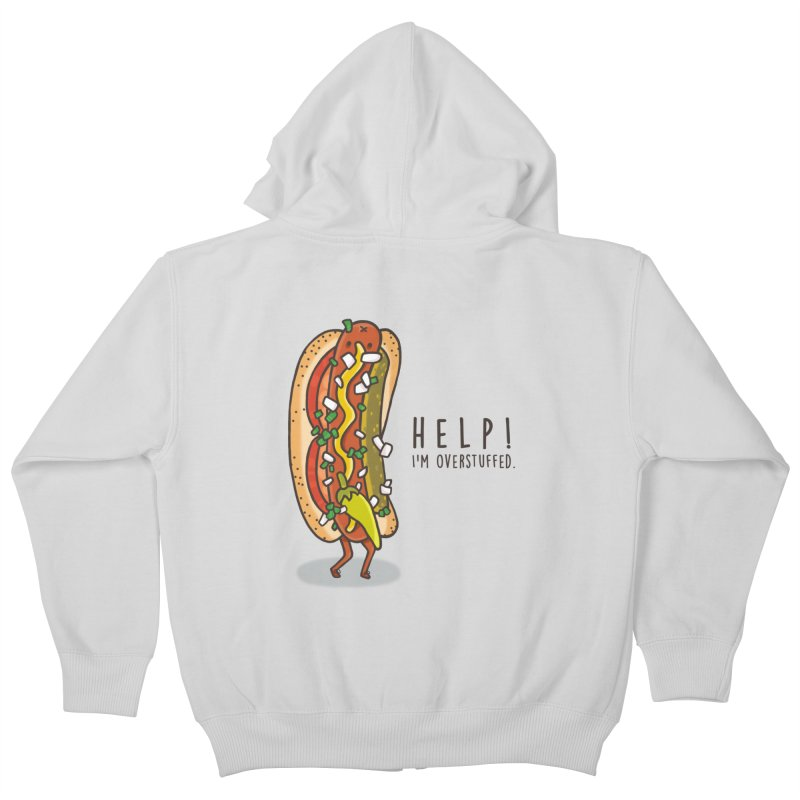 CARRYING TOO MUCH Kids Zip-Up Hoody by RiLi's Artist Shop