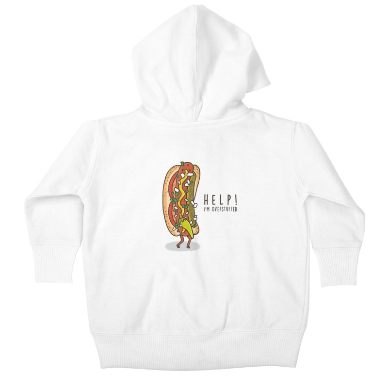 CARRYING TOO MUCH Kids Baby Zip-Up Hoody by RiLi's Artist Shop
