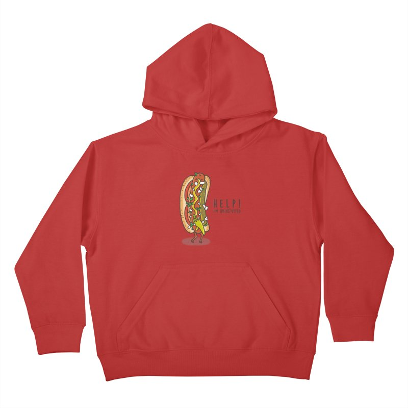 CARRYING TOO MUCH Kids Pullover Hoody by RiLi's Artist Shop