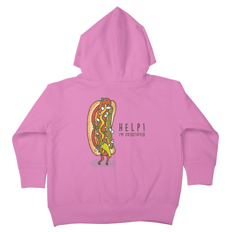 CARRYING TOO MUCH Kids Toddler Zip-Up Hoody by RiLi's Artist Shop