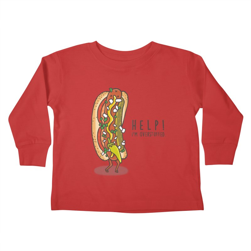 CARRYING TOO MUCH Kids Toddler Longsleeve T-Shirt by RiLi's Artist Shop