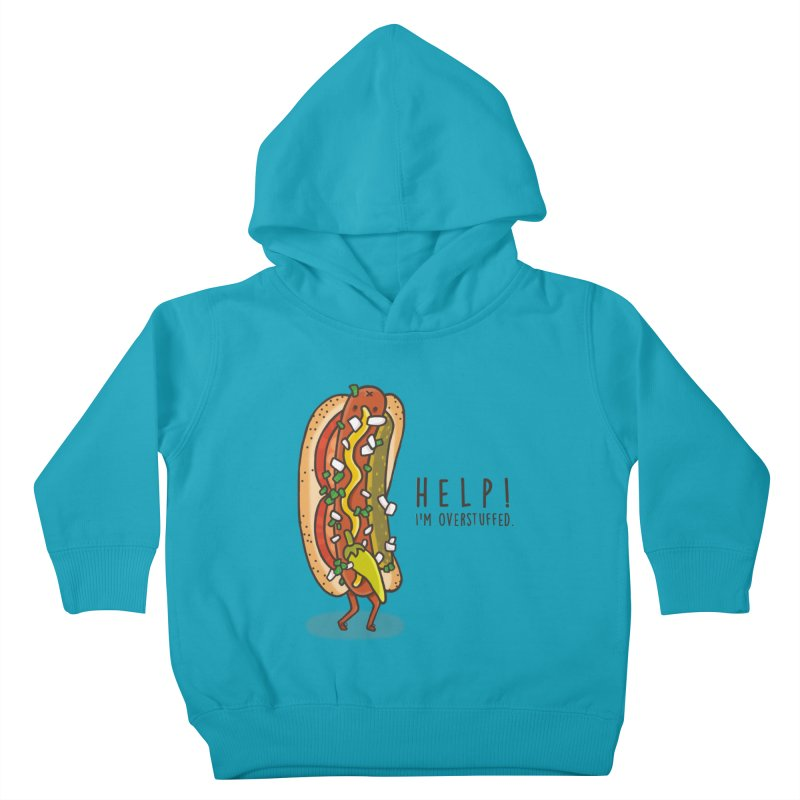 CARRYING TOO MUCH Kids Toddler Pullover Hoody by RiLi's Artist Shop