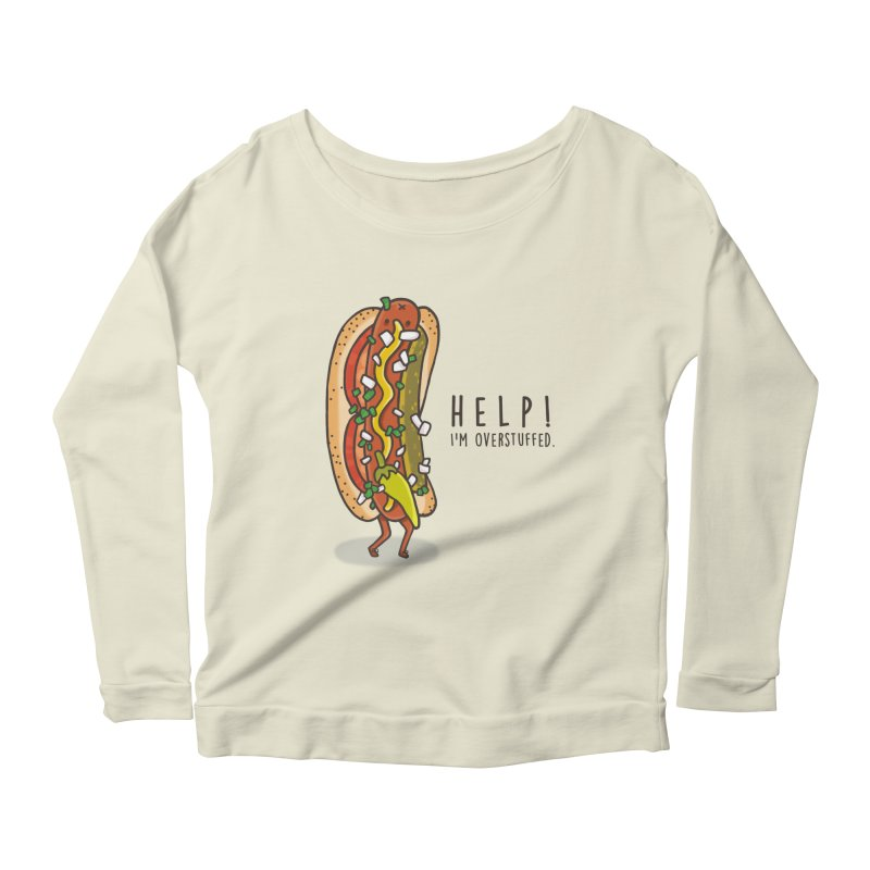 CARRYING TOO MUCH Women's Scoop Neck Longsleeve T-Shirt by RiLi's Artist Shop