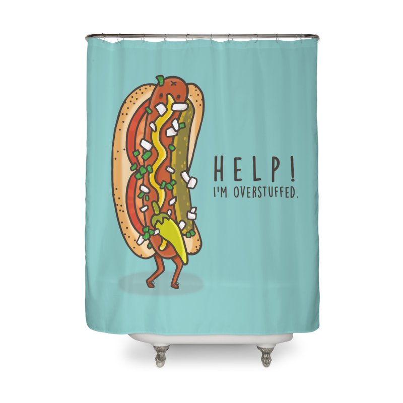 CARRYING TOO MUCH Home Shower Curtain by RiLi's Artist Shop
