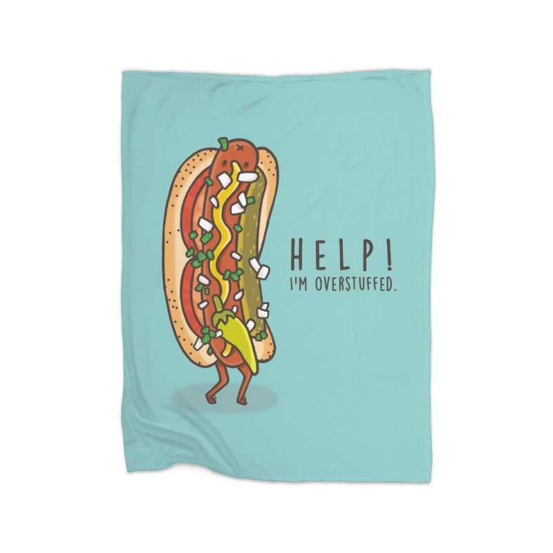 CARRYING TOO MUCH Home Fleece Blanket Blanket by RiLi's Artist Shop