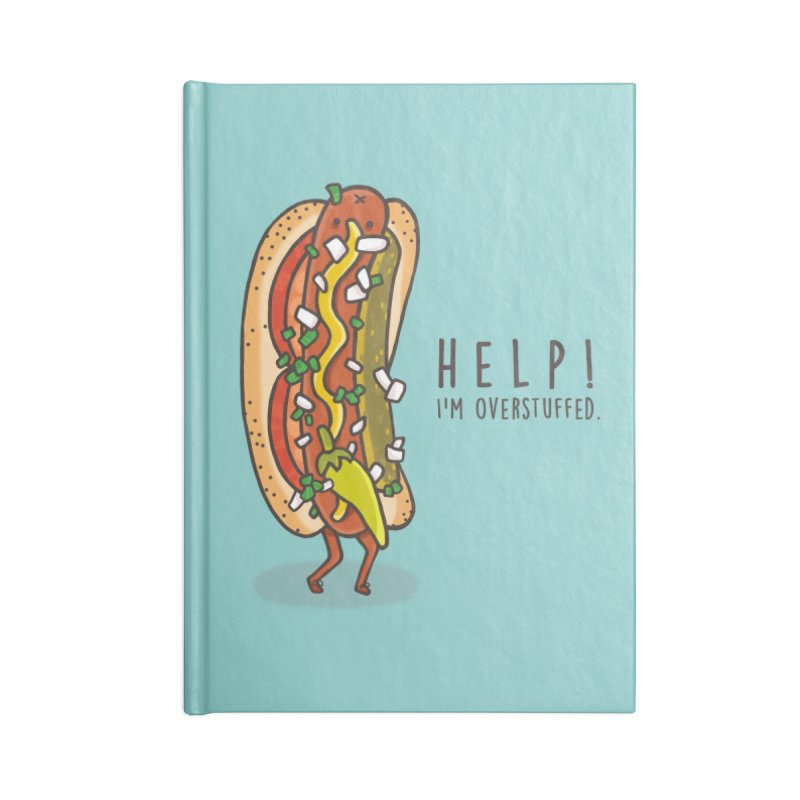 CARRYING TOO MUCH Accessories Lined Journal Notebook by RiLi's Artist Shop