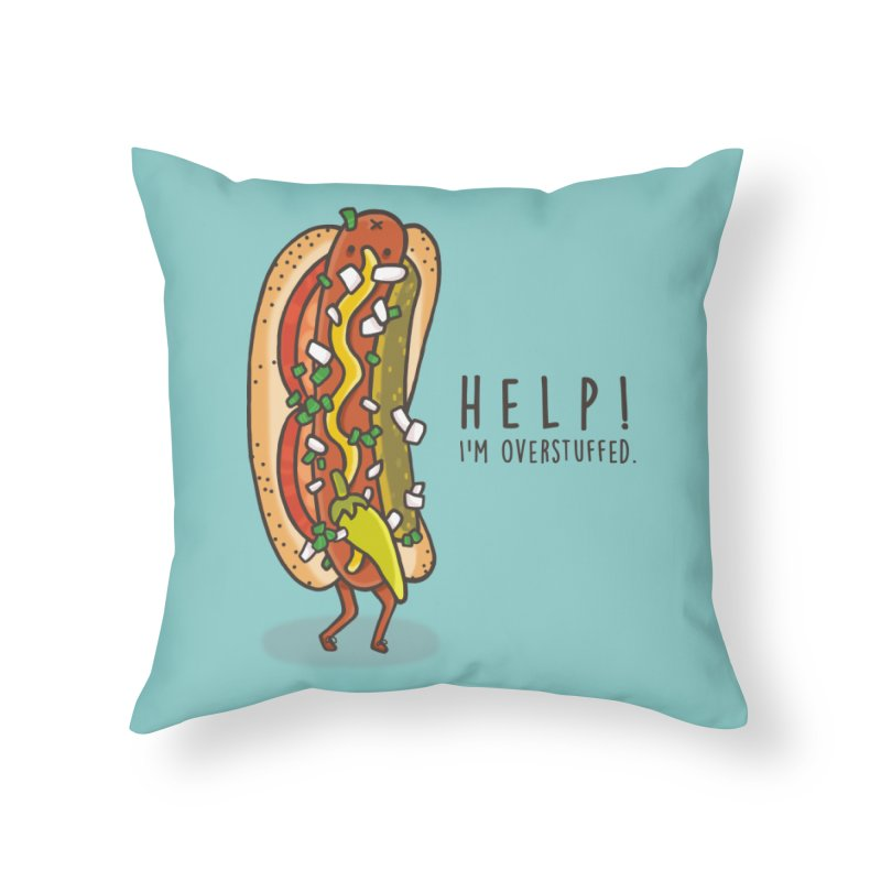 CARRYING TOO MUCH Home Throw Pillow by RiLi's Artist Shop