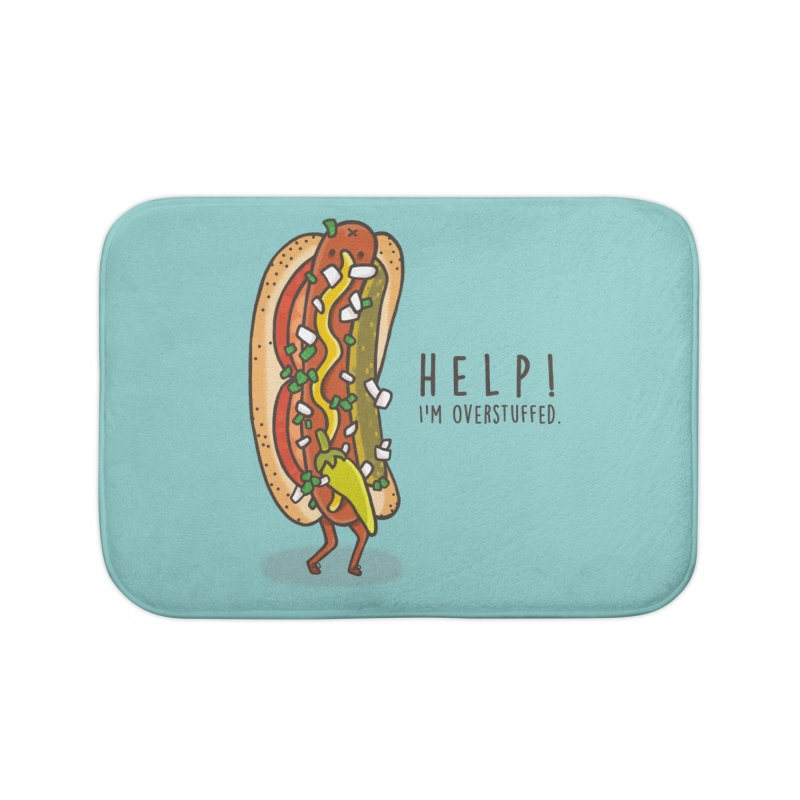 CARRYING TOO MUCH Home Bath Mat by RiLi's Artist Shop