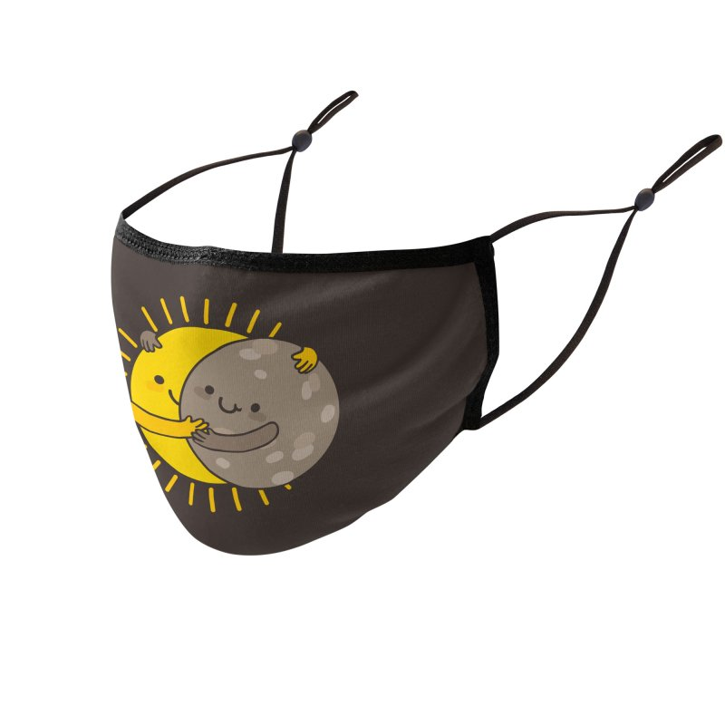 SOLAR ECLIPSE Accessories Face Mask by RiLi's Artist Shop