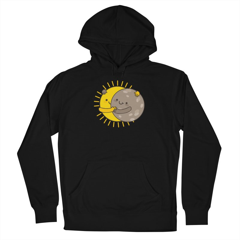 SOLAR ECLIPSE Men's French Terry Pullover Hoody by RiLi's Artist Shop