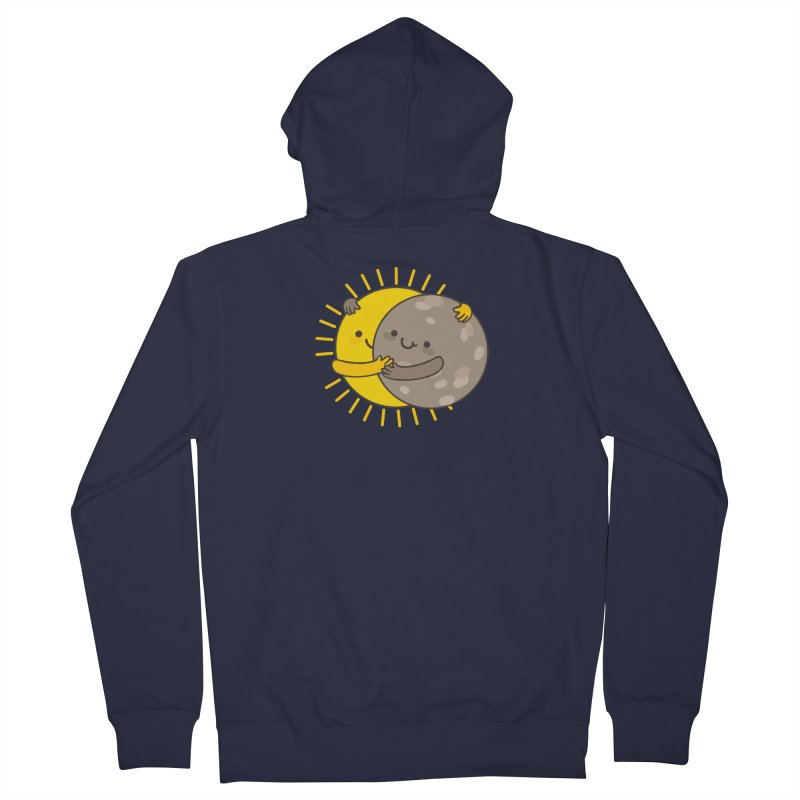 SOLAR ECLIPSE Women's French Terry Zip-Up Hoody by RiLi's Artist Shop