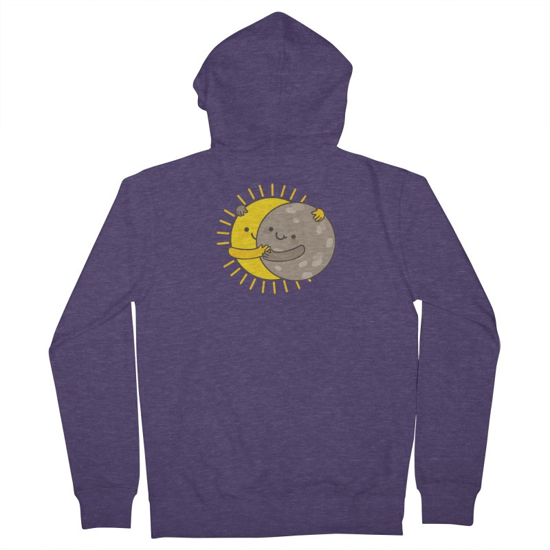 SOLAR ECLIPSE Men's French Terry Zip-Up Hoody by RiLi's Artist Shop