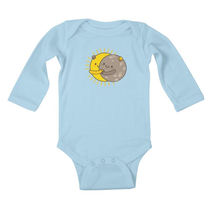 SOLAR ECLIPSE Kids Baby Longsleeve Bodysuit by RiLi's Artist Shop