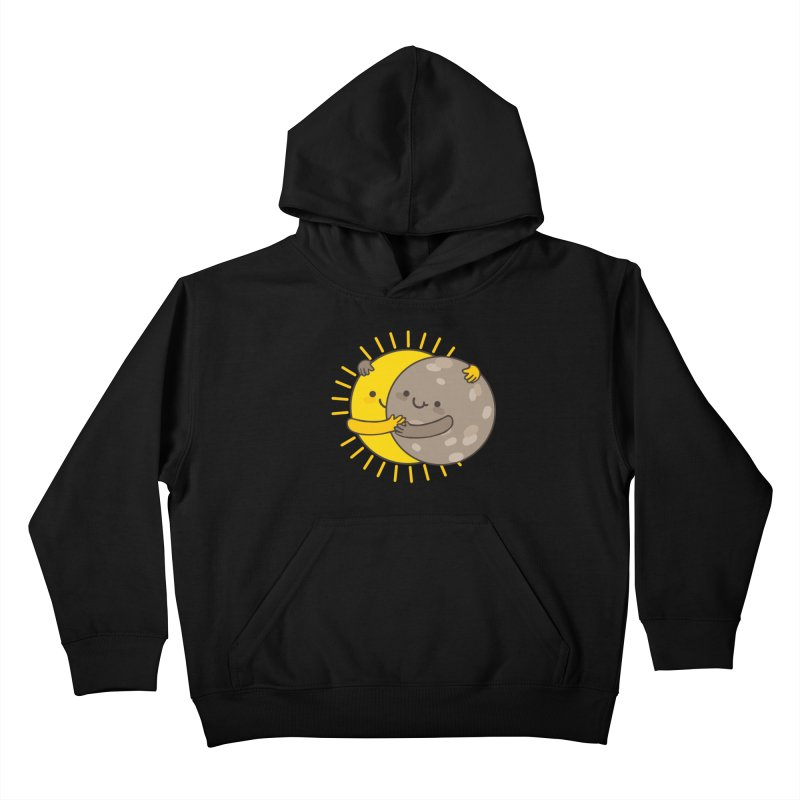 SOLAR ECLIPSE  Kids Pullover Hoody by RiLi's Artist Shop