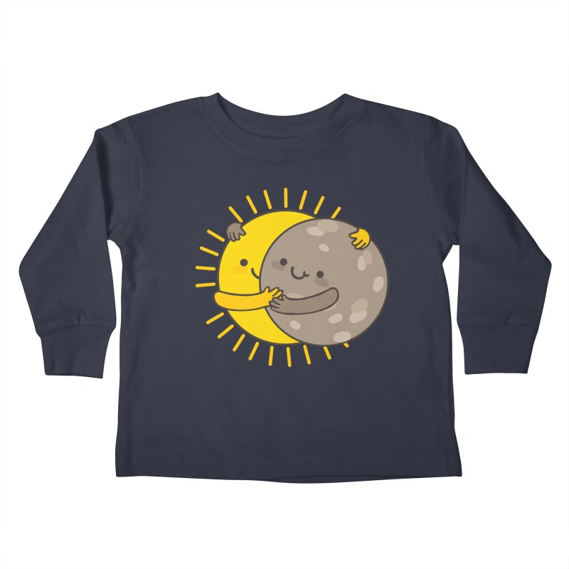 SOLAR ECLIPSE  Kids Toddler Longsleeve T-Shirt by RiLi's Artist Shop