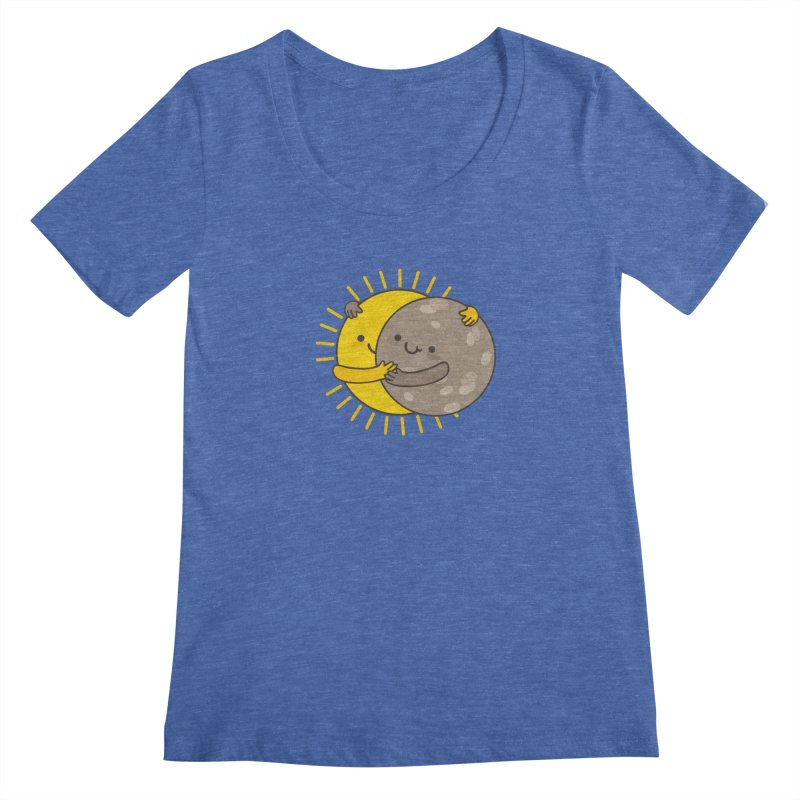 SOLAR ECLIPSE Women's Regular Scoop Neck by RiLi's Artist Shop