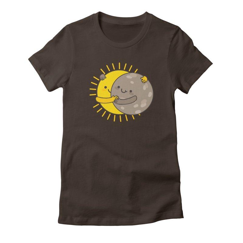SOLAR ECLIPSE Women's Fitted T-Shirt by RiLi's Artist Shop