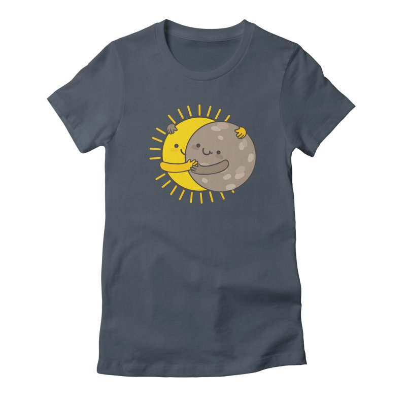 SOLAR ECLIPSE  Women's Fitted T-Shirt by RiLi's Artist Shop