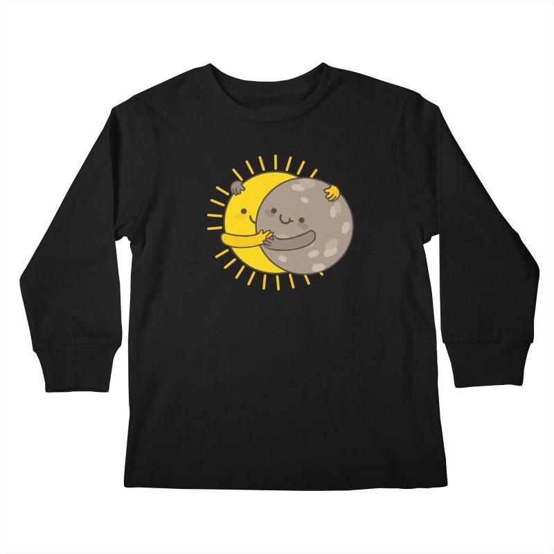 SOLAR ECLIPSE Kids Longsleeve T-Shirt by RiLi's Artist Shop