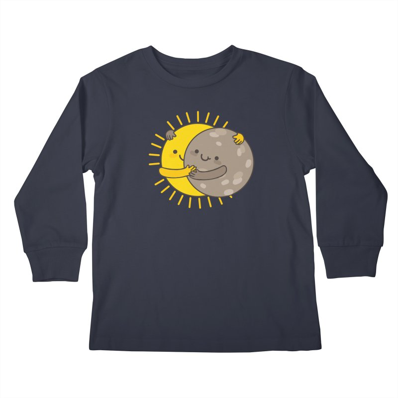 SOLAR ECLIPSE Kids Longsleeve T-Shirt by RiLi's Artist Shop