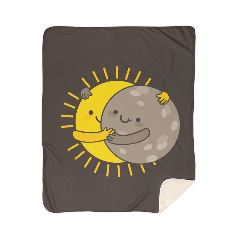 SOLAR ECLIPSE Home Sherpa Blanket Blanket by RiLi's Artist Shop
