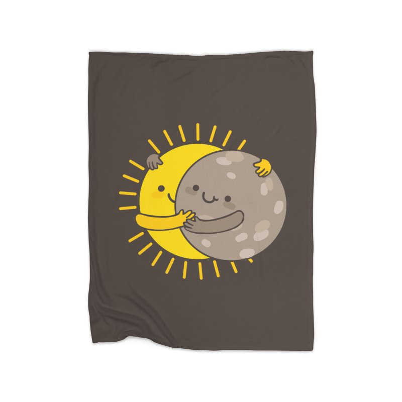 SOLAR ECLIPSE Home Fleece Blanket Blanket by RiLi's Artist Shop