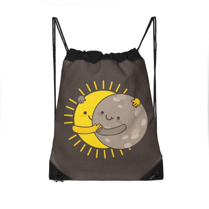 SOLAR ECLIPSE Accessories Drawstring Bag Bag by RiLi's Artist Shop