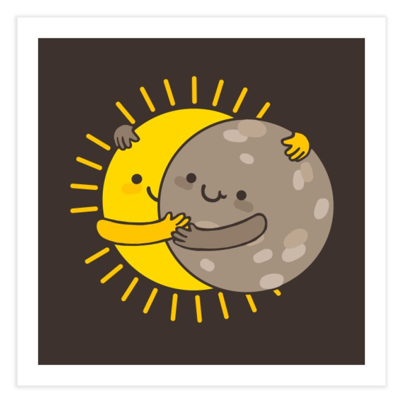 SOLAR ECLIPSE Home Fine Art Print by RiLi's Artist Shop