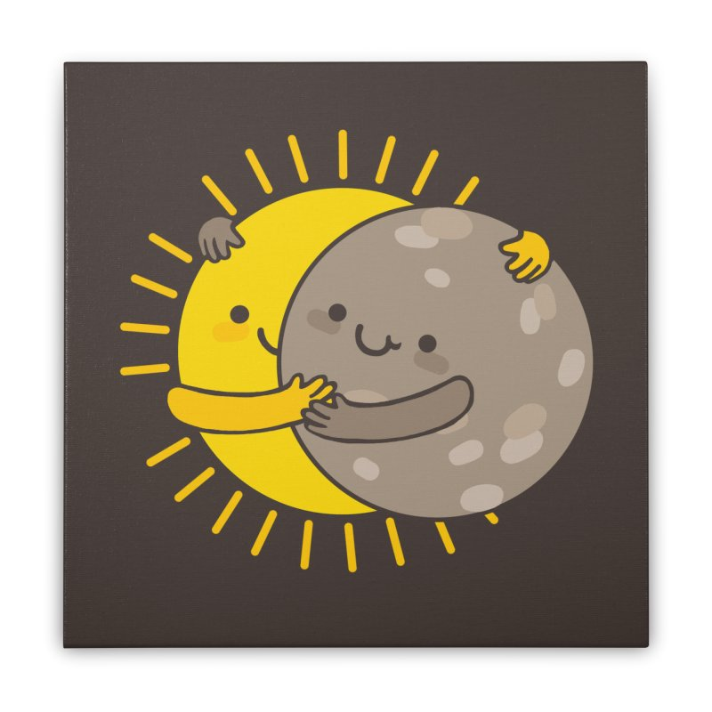 SOLAR ECLIPSE Home Stretched Canvas by RiLi's Artist Shop