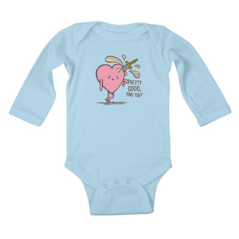 FRIZZY LOVE Kids Baby Longsleeve Bodysuit by RiLi's Artist Shop