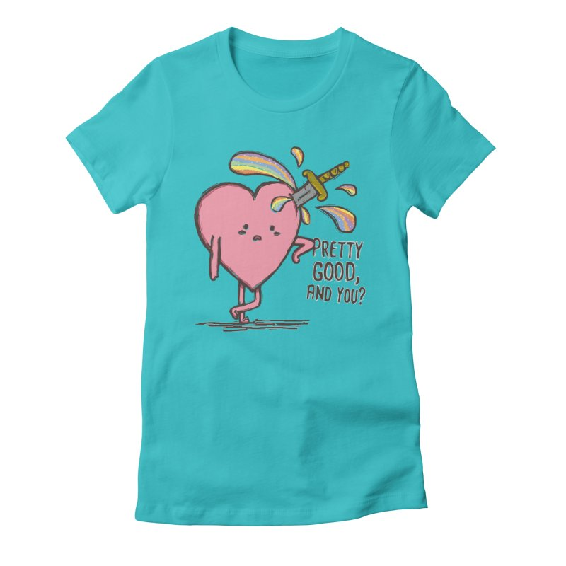 FRIZZY LOVE Women's Fitted T-Shirt by RiLi's Artist Shop
