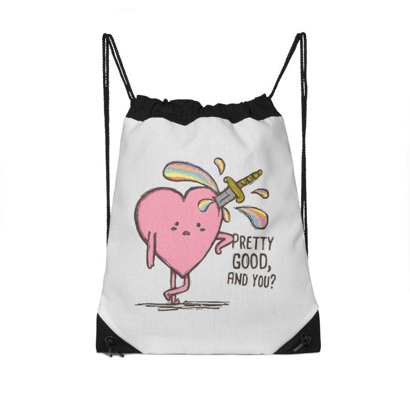 FRIZZY LOVE Accessories Drawstring Bag Bag by RiLi's Artist Shop
