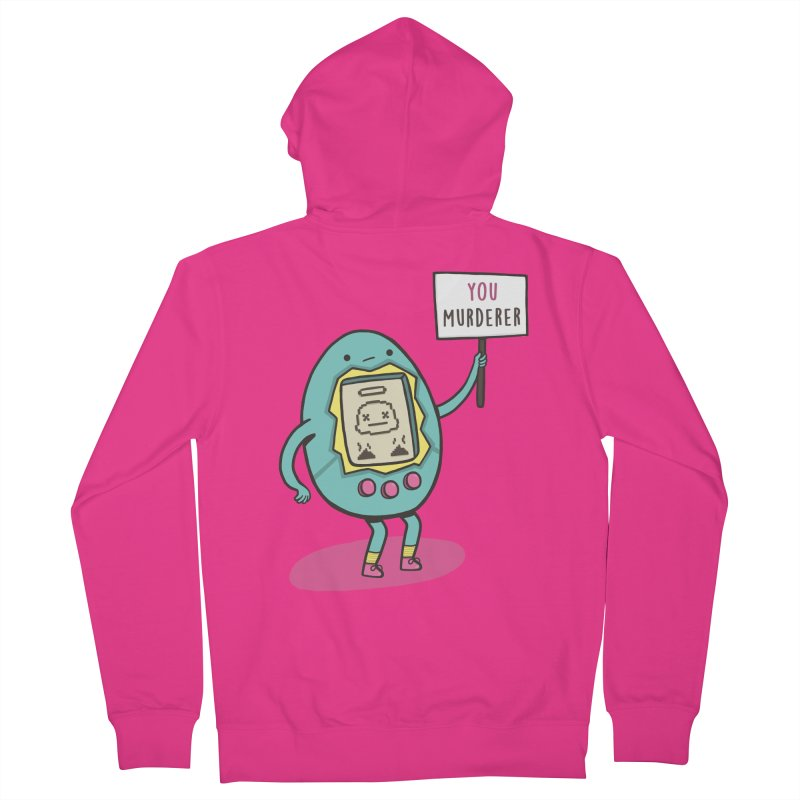EVERYBODY'S FIRST VICTIM Men's French Terry Zip-Up Hoody by RiLi's Artist Shop