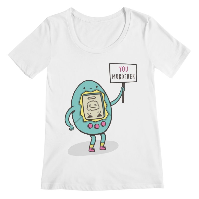 EVERYBODY'S FIRST VICTIM Women's Scoopneck by RiLi's Artist Shop