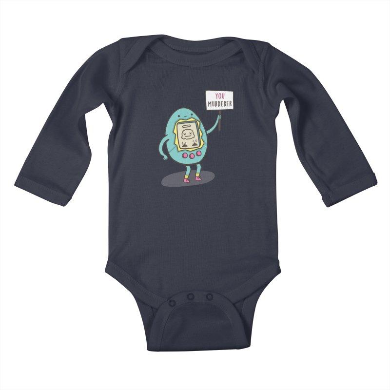 EVERYBODY'S FIRST VICTIM Kids Baby Longsleeve Bodysuit by RiLi's Artist Shop
