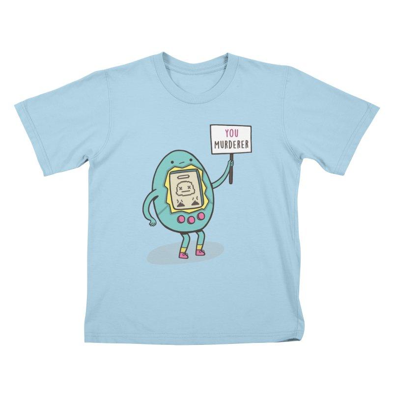 EVERYBODY'S FIRST VICTIM Kids T-Shirt by RiLi's Artist Shop