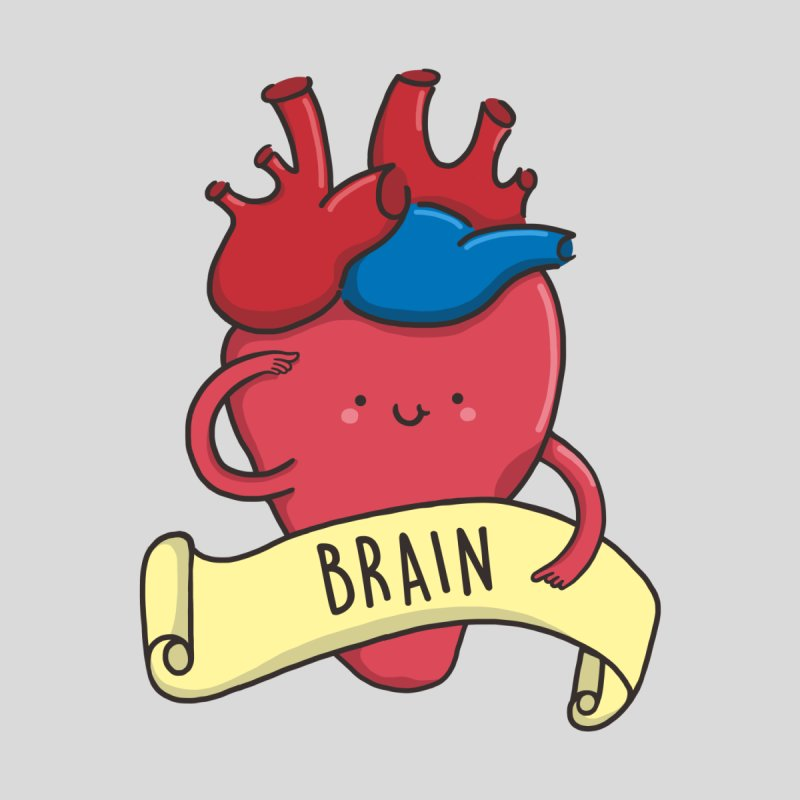 THE BRAIN Accessories Greeting Card by RiLi's Artist Shop