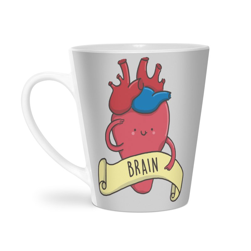 THE BRAIN Accessories Latte Mug by RiLi's Artist Shop