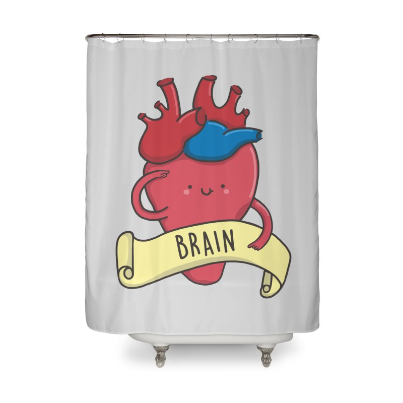 THE BRAIN Home Shower Curtain by RiLi's Artist Shop