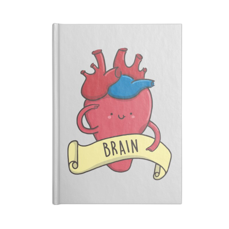 THE BRAIN Accessories Blank Journal Notebook by RiLi's Artist Shop