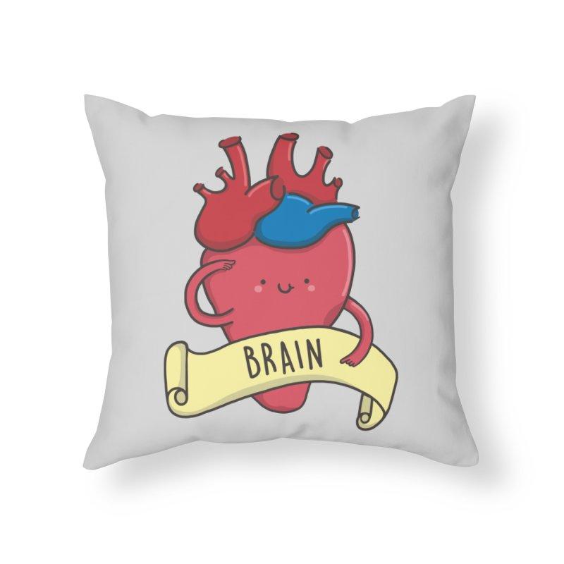 THE BRAIN Home Throw Pillow by RiLi's Artist Shop