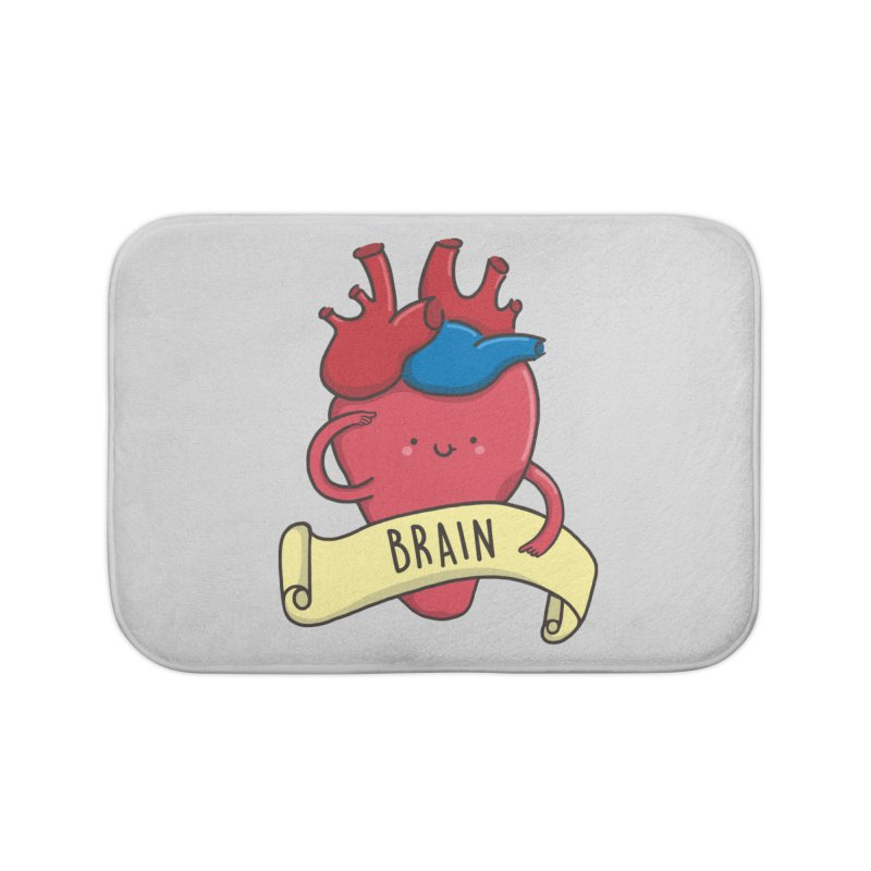 THE BRAIN Home Bath Mat by RiLi's Artist Shop