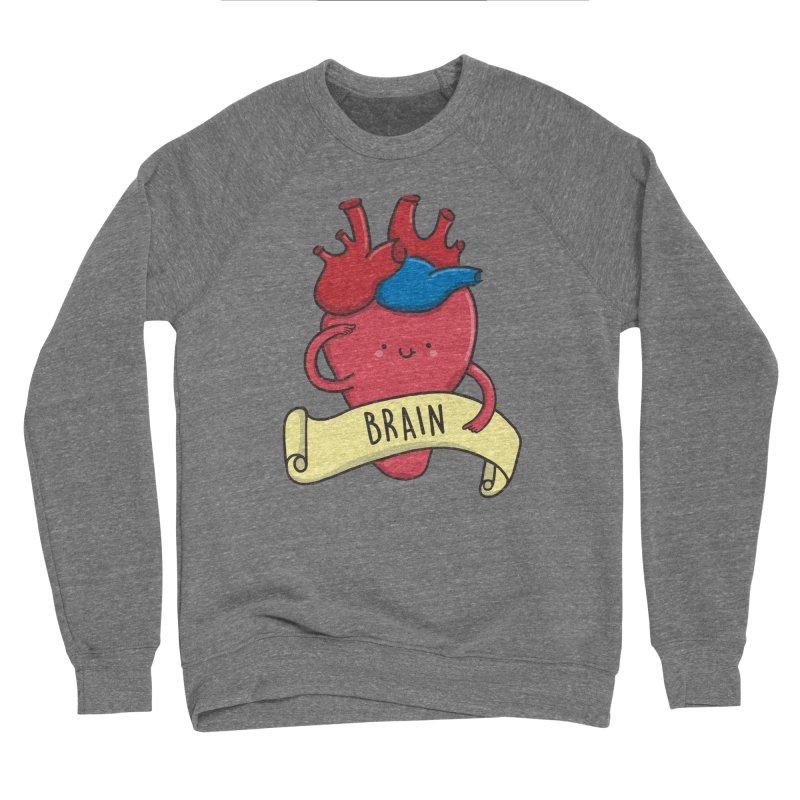 THE BRAIN Men's Sponge Fleece Sweatshirt by RiLi's Artist Shop