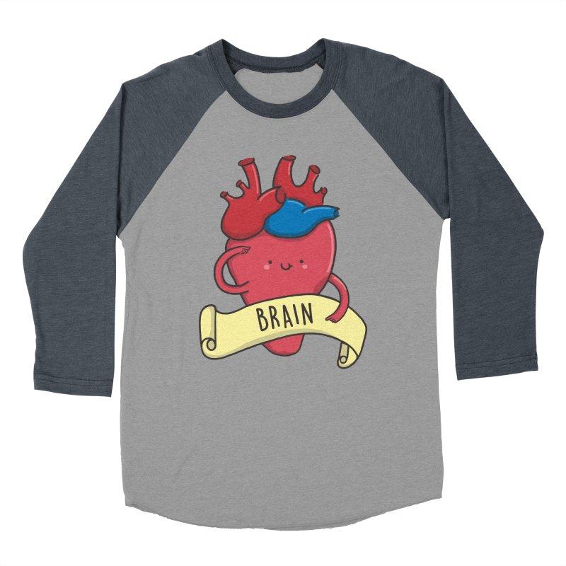 THE BRAIN Women's Baseball Triblend Longsleeve T-Shirt by RiLi's Artist Shop