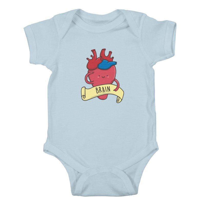 THE BRAIN Kids Baby Bodysuit by RiLi's Artist Shop