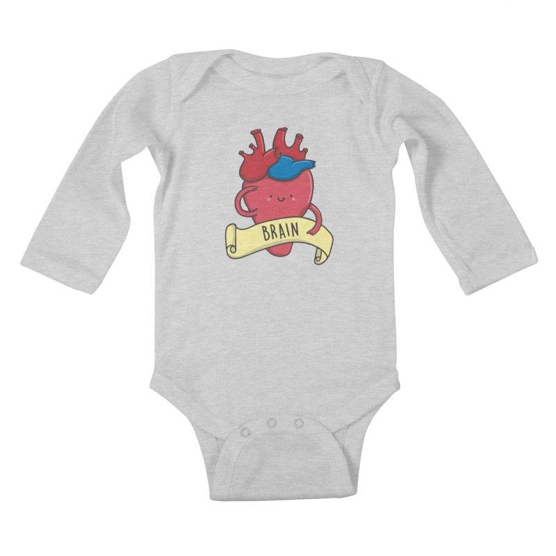 THE BRAIN Kids Baby Longsleeve Bodysuit by RiLi's Artist Shop